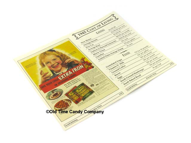 1945 Remember When Candy History Booklet