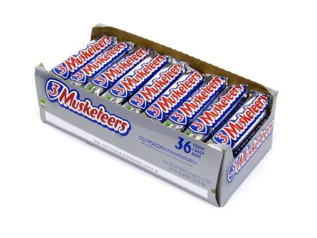 3 Musketeers 1 92 Oz Candy Bar Box Of 36 Oldtimecandy Com