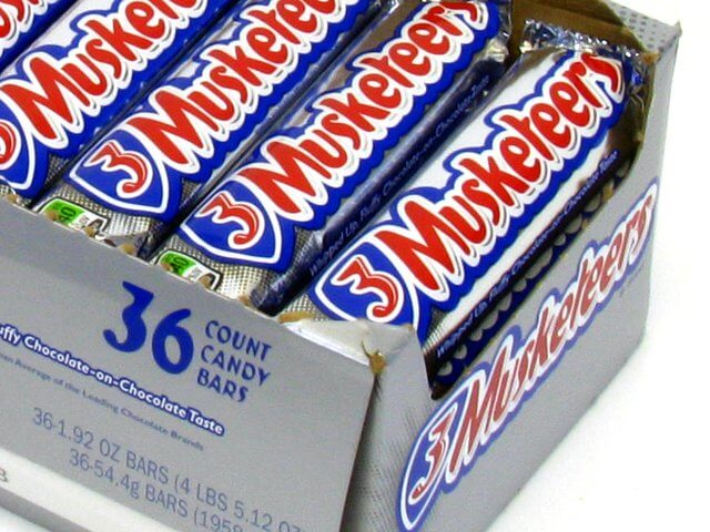 3 Musketeers - 1.92 oz bar - box of 36