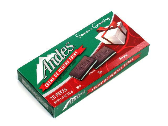 Andes Mints Christmas Cards - 4.67 oz box