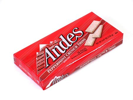 Andes Peppermint Crunch Thins - 4.67 oz box