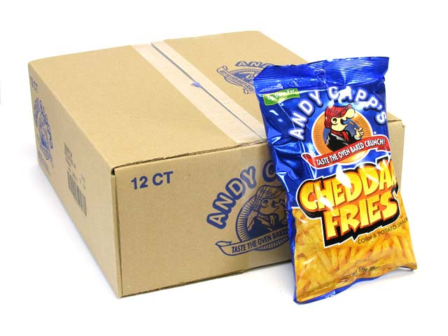 Andy Capp's Cheddar Fries - 3 oz bag - box of 12