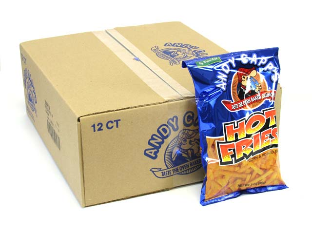 Andy Capp's Hot Fries - 3 oz bag - box of 12