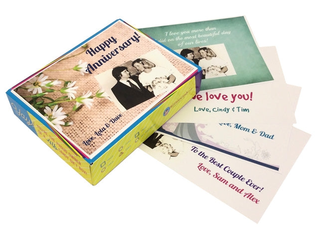Personalized Anniversary Box Tops