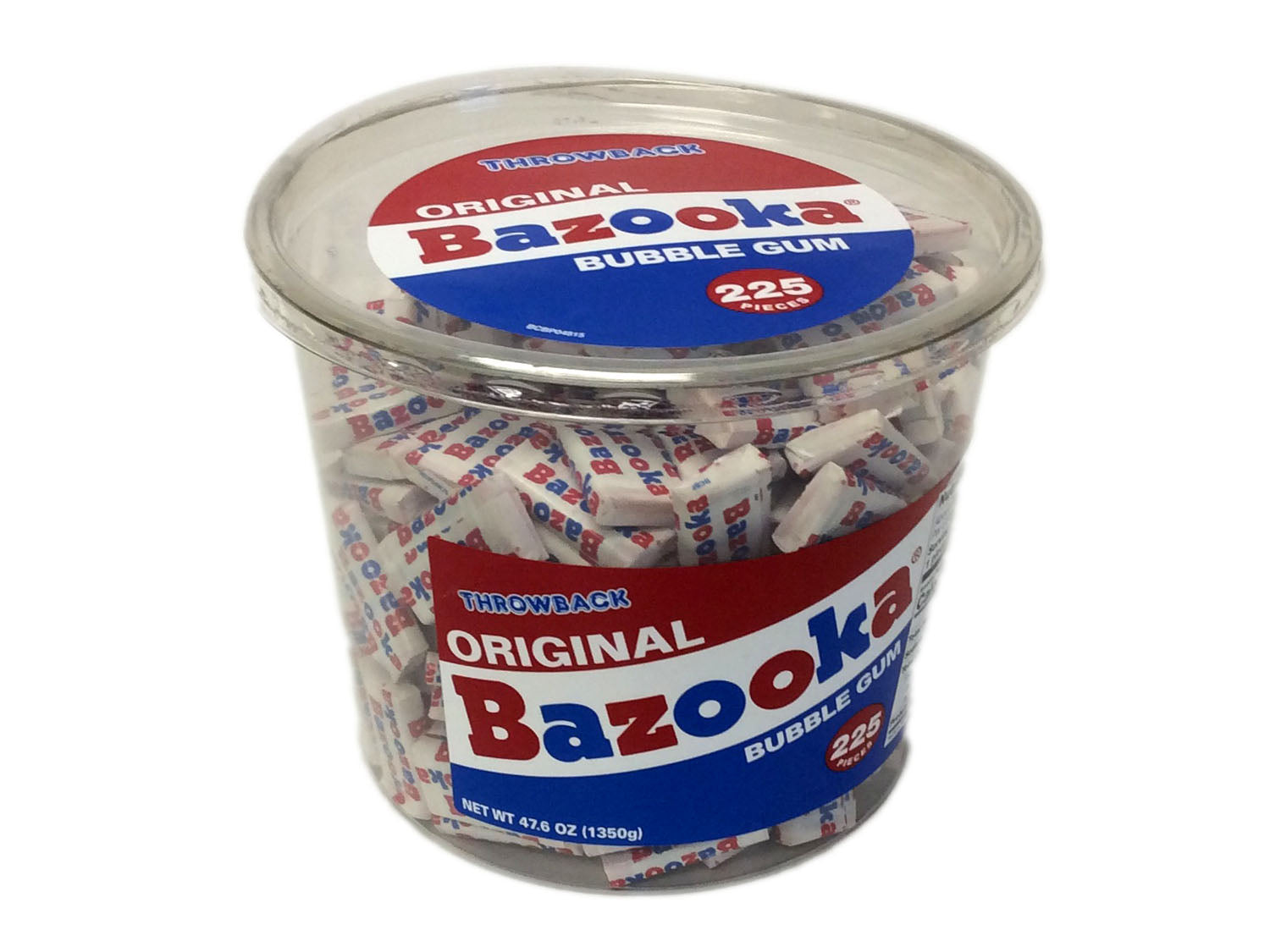 Bazooka Bubble Gum - 225 piece plastic tub