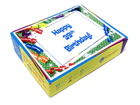 Birthday by the Numbers Decade Gift Box - Ribbons & Stars
