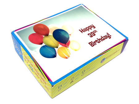 Birthday by the Numbers Decade Gift Box - Sunny Day Balloons