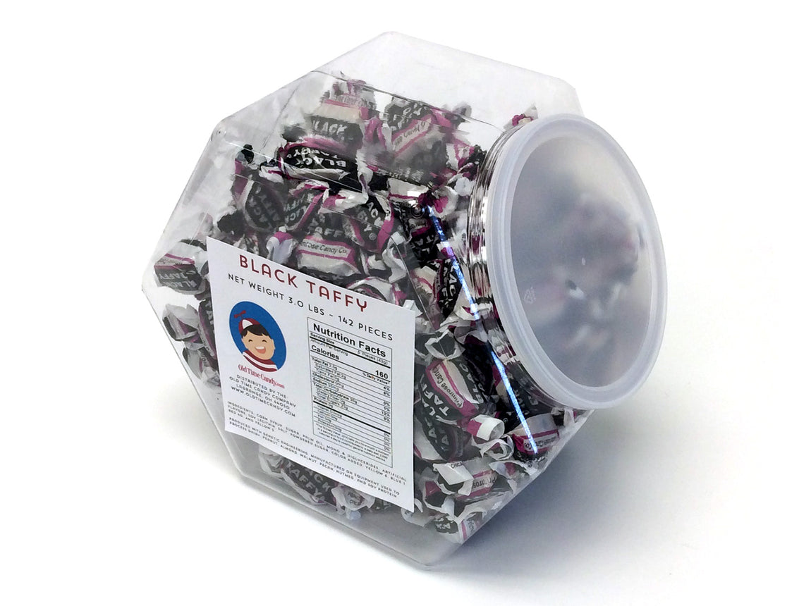 Black Taffy - 3 lb Plastic Tub (142 ct)