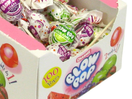 Blow Pops - assorted flavors - box of 100