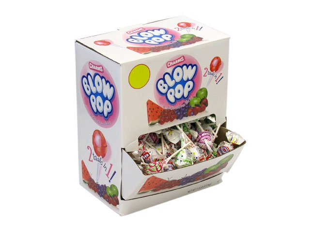 Blow Pops - assorted flavors - 180 piece box