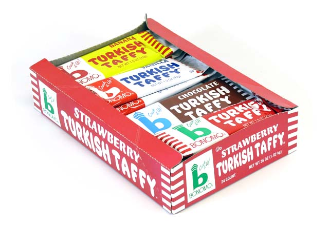 Bonomo's Turkish Taffy - 1.5 oz assorted bars - box of 24