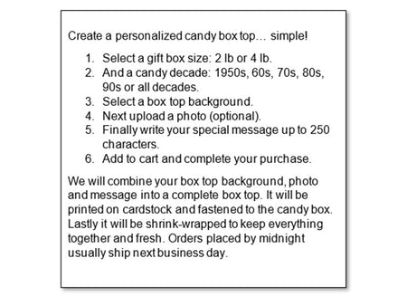 Box Top Instructions
