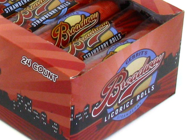 Broadway Rolls - 2 oz strawberry - box of 24