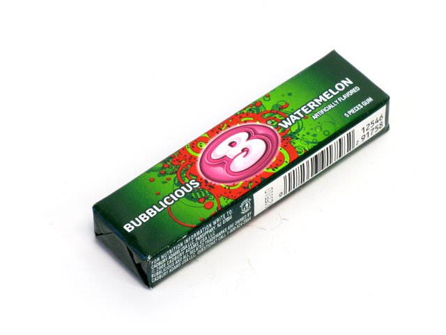 Bubblicious bubble gum - watermelon - box of 18