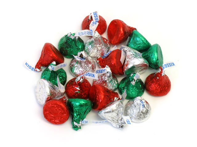Candy Cane with Hershey's Christmas Kisses - 2.88 oz  12 inch