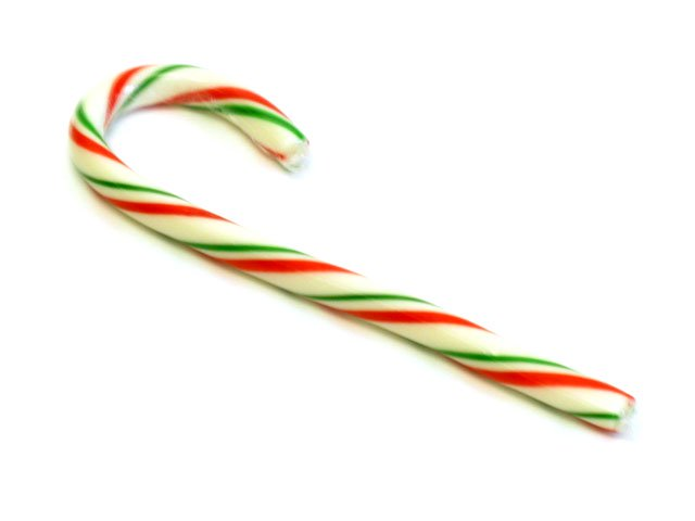 Red, White and Green Candy Canes