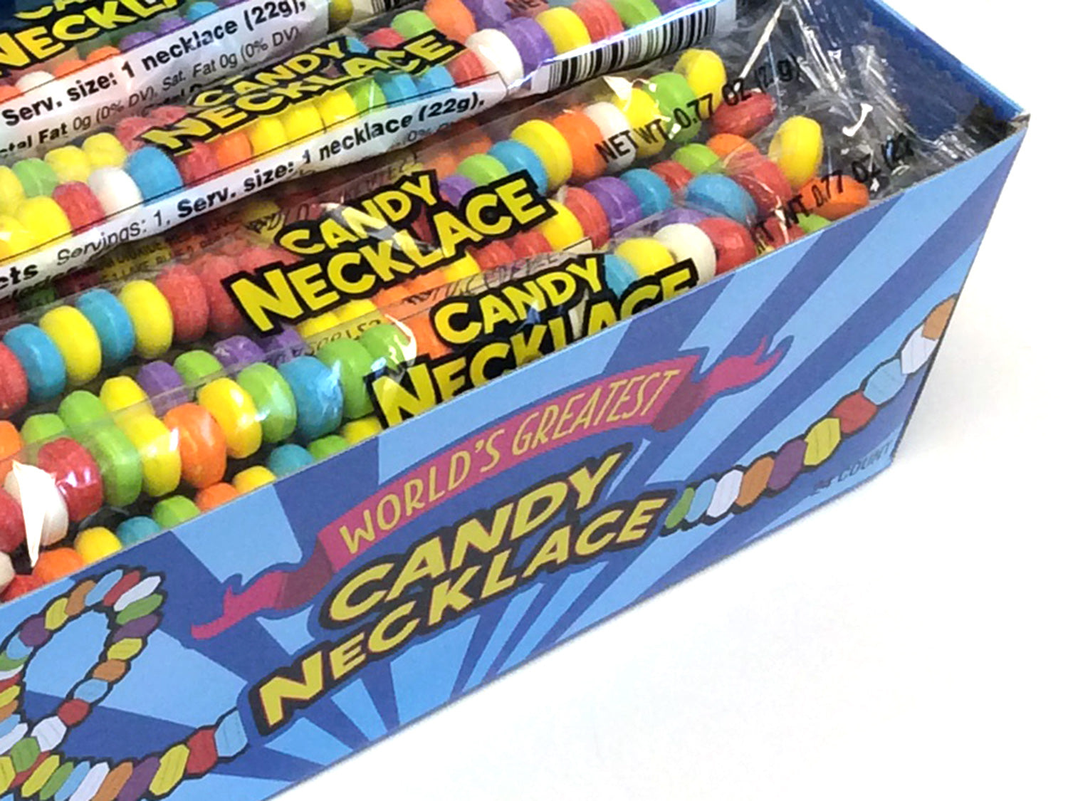 Candy Necklace - wrapped - box of 24
