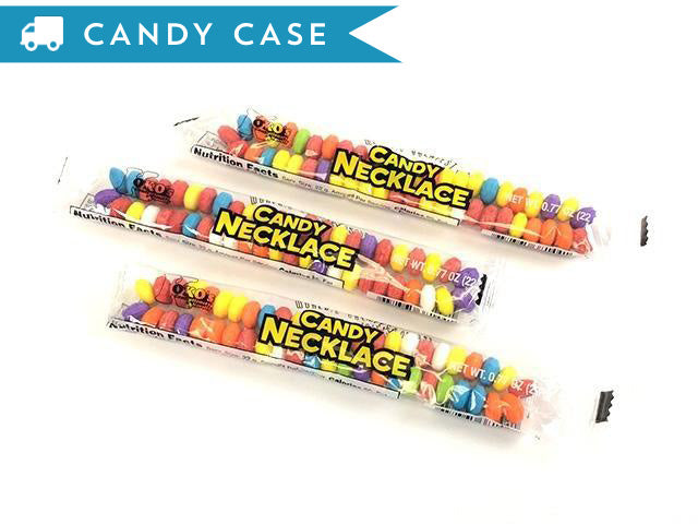 Candy Necklace - bulk 1000 ct case - wrapped