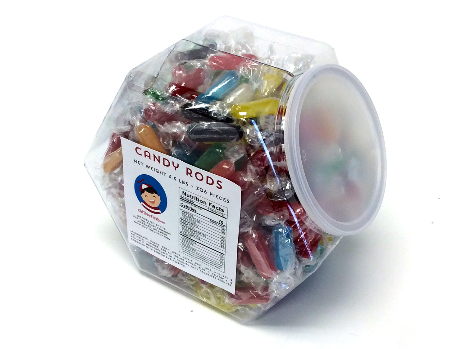 Candy Rods - 3.5 lb Plastic Tub (306 ct)