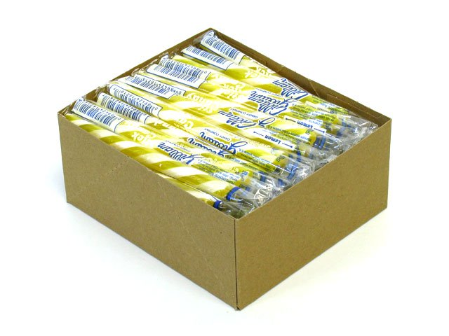 Stick Candy - lemon - box of 80
