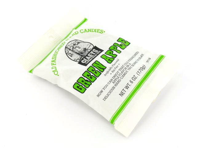 Candy Drops - green apple - 6 oz bag - case of 24
