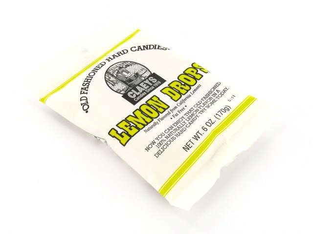 Candy Drops - lemon - 6 oz bag - case of 24