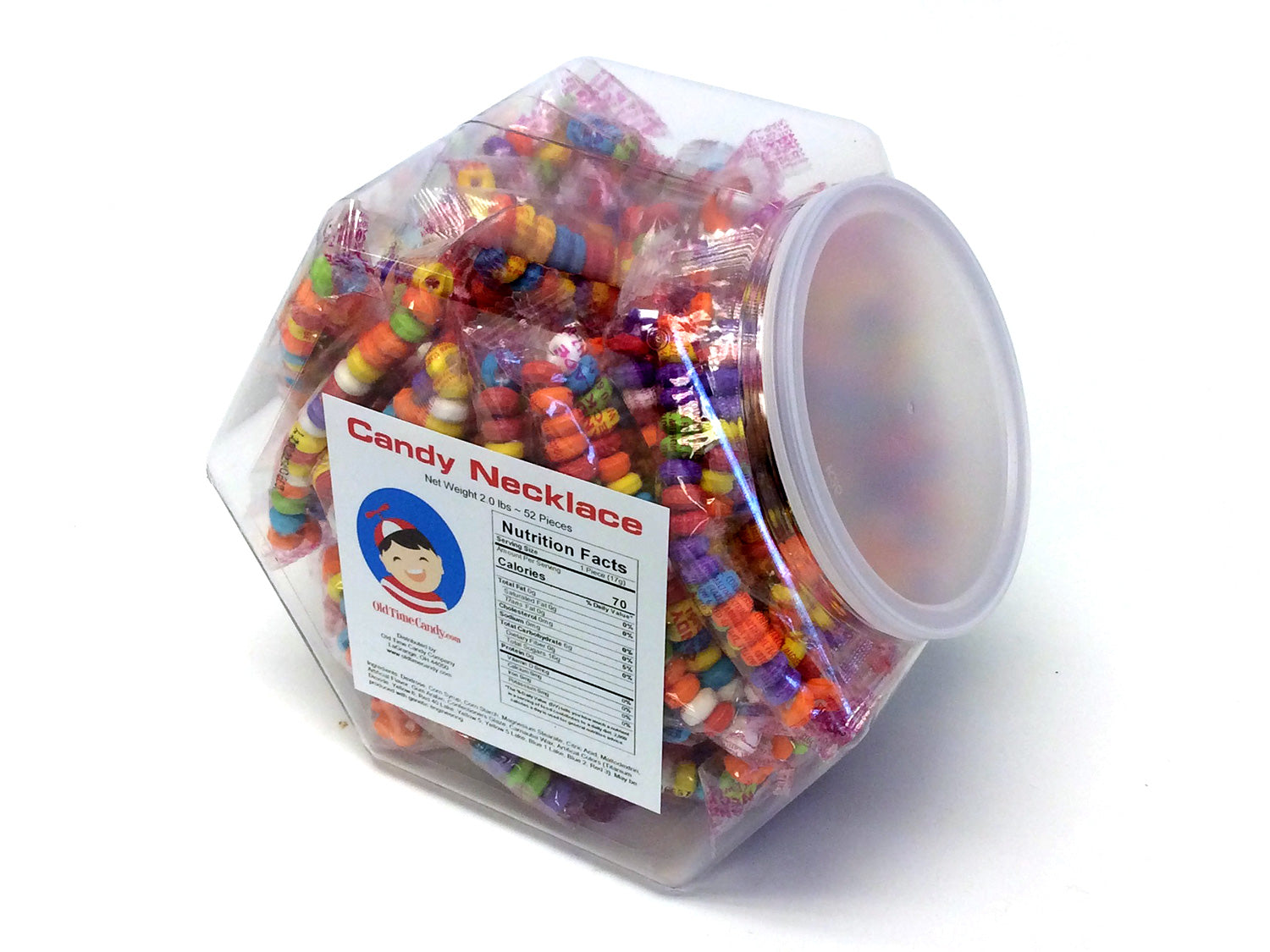 Candy Necklace - wrapped - plastic tub of 52