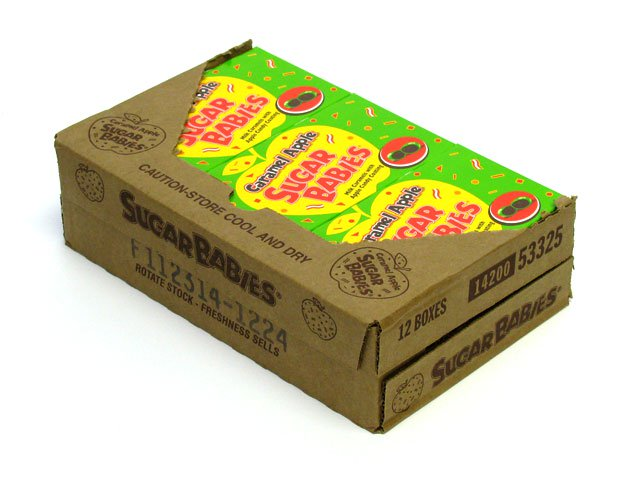 Sugar Babies Caramel Apple - 5 oz theater box - case of 12
