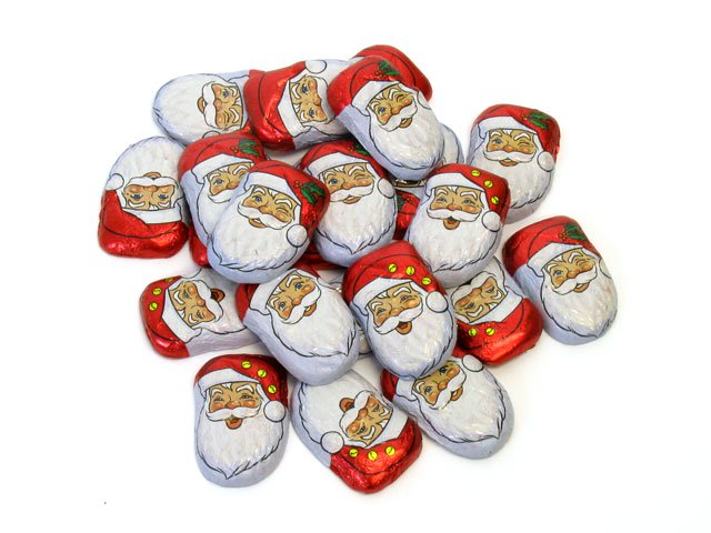 Chocolate Caramel Santas - bulk 2 lb bag (94 ct)