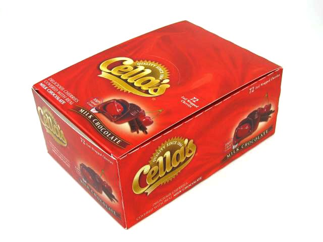 Cella's Milk Chocolate Covered Cherries - box of 72