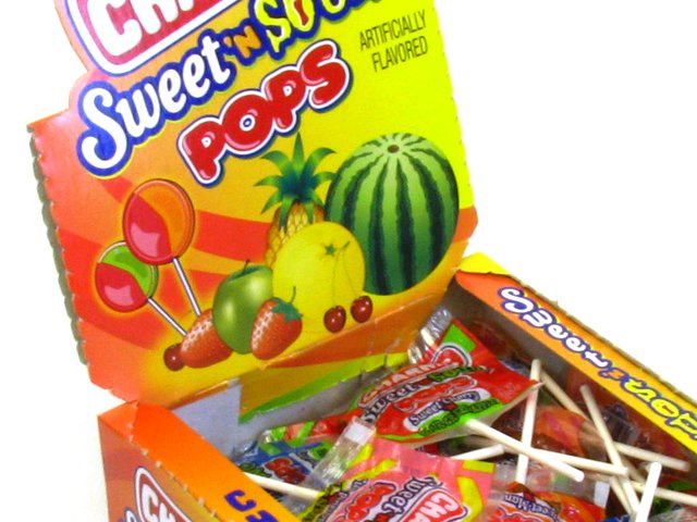 Charms Sweet & Sour Pops - box of 48