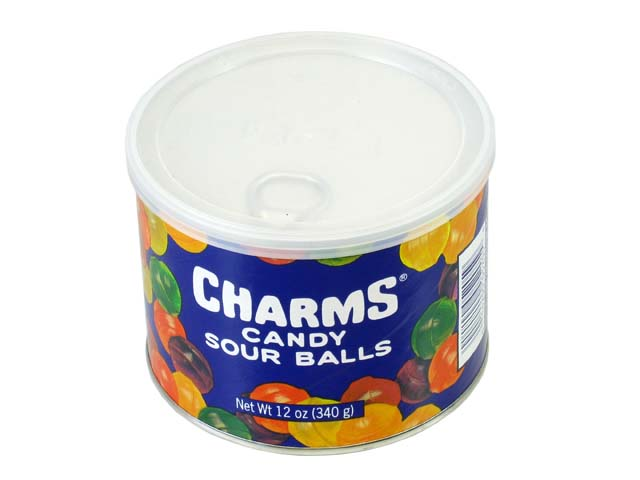 Charms Candy Sour Balls - 12 oz canister - case of 12