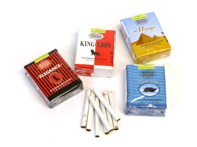 Chocolate Cigarettes Candy 1 Pack Oldtimecandy Com