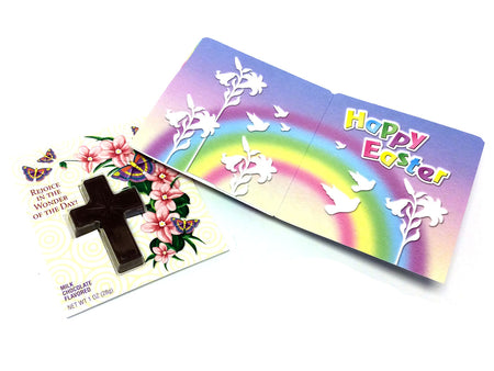Chocolate Cross with Inspirational Card