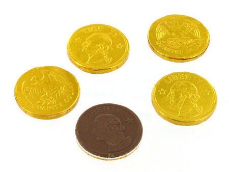 Chocolate Gold Coins - bulk 2 lb bag (270 ct)