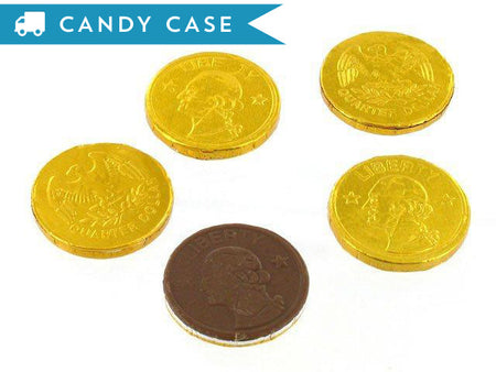Chocolate Gold Coins - bulk 4.75 lb case (700 ct)