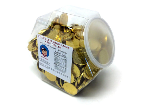 Chocolate Gold Coins - US Half Dollar - 5 lb plastic tub