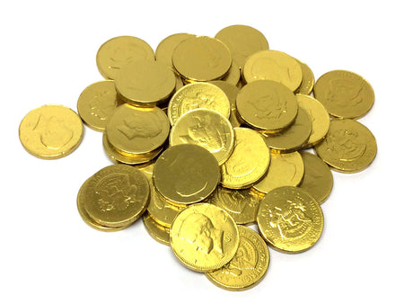 Chocolate Gold Coins - US Half Dollar - bulk 3 lb bag