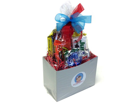 Chocolate and Nut Candy Lovers Gift Box - Silver