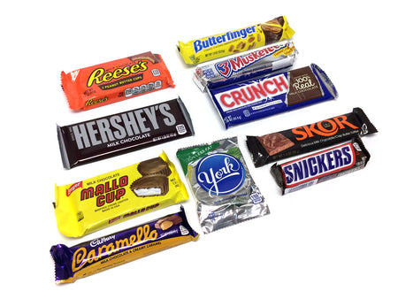 Chocolate and Nut Candy Lovers Gift Box assortment.