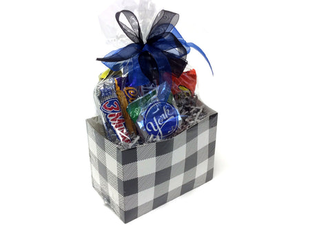 Chocolate and Nut Candy Lovers Gift Box - Buffalo Plaid