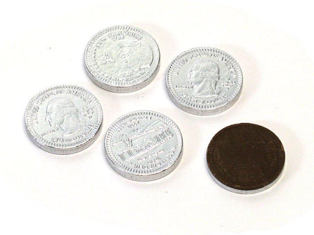 Chocolate Silver Coins - bulk 2 lb bag (270 ct)