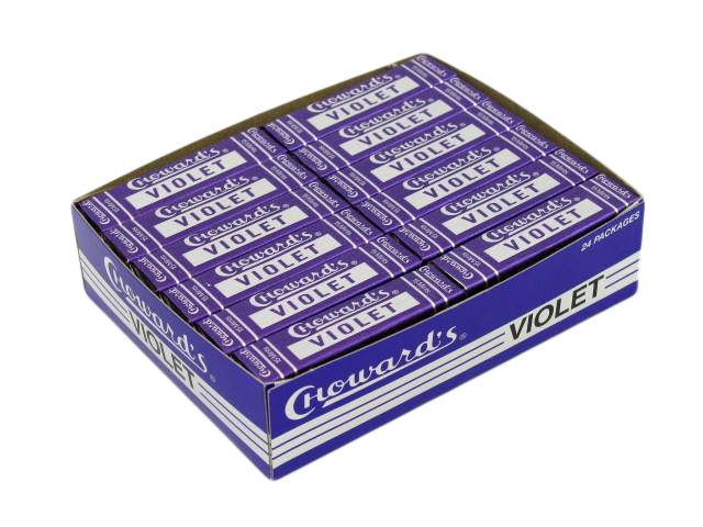 Choward's Violet Mints - box of 24 rolls