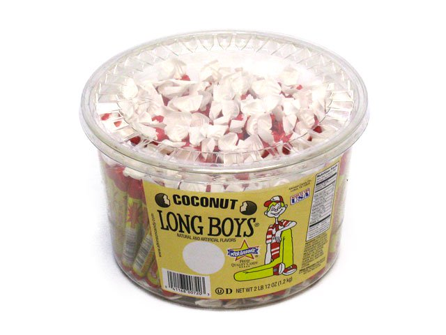 Long Boys - Coconut - 130 piece plastic tub