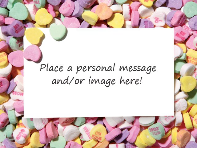 Conversation Hearts Frame - Box Top 2