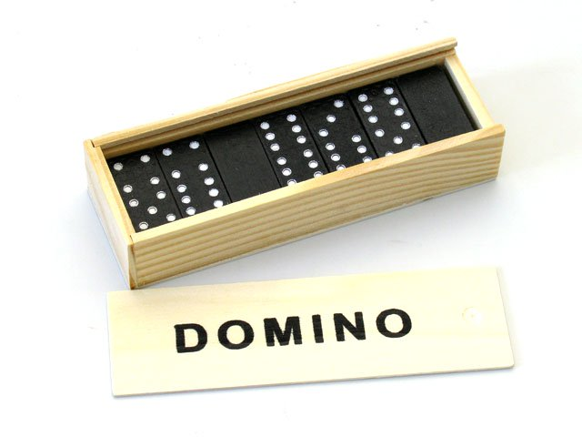 Domino Set in a Wooden Box