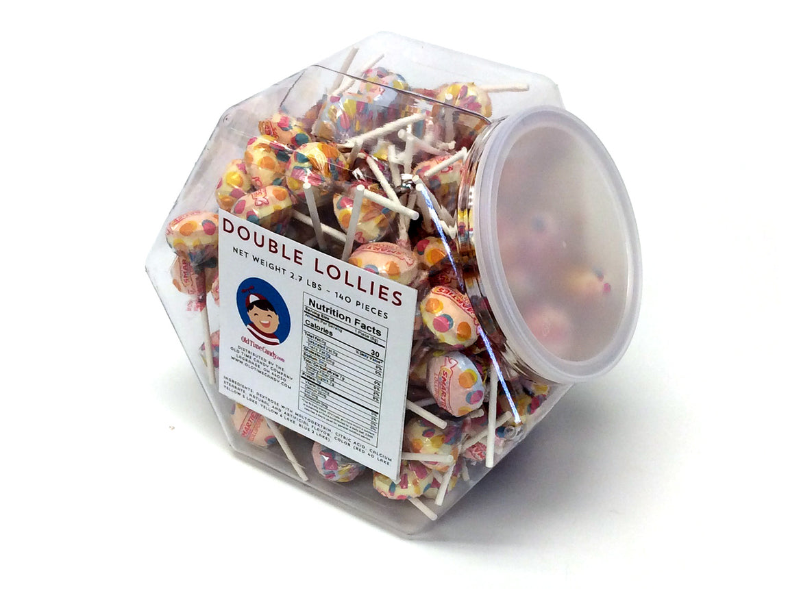 Double Lollies - 2.7 lb Plastic Tub (140 ct)