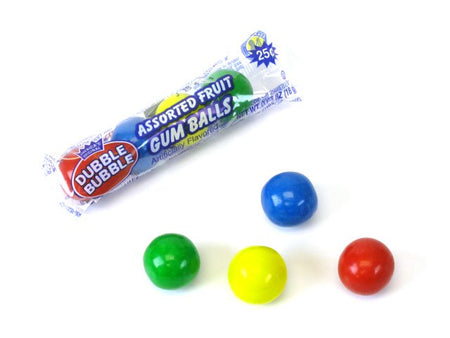 Dubble Bubble Large Gumballs Assorted 4-piece tube