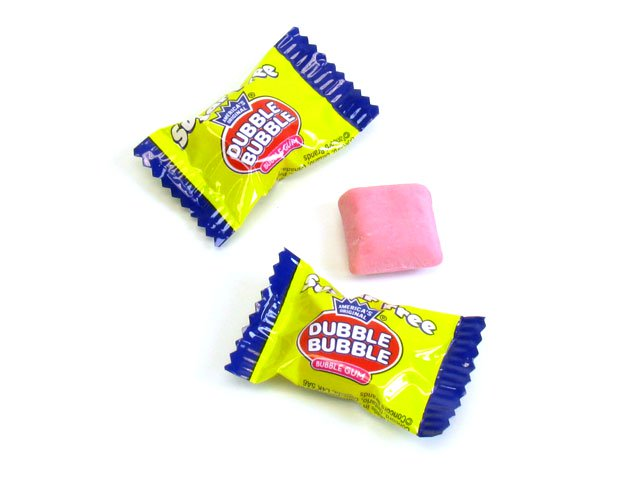 Dubble Bubble Gum - sugar-free - 3.25 oz bag