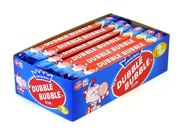 Dubble Bubble Gum - 3 oz Big Bar (1928 flavor) - box of 24